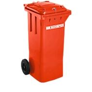 Afvalbak GMT, 80 l, zwaartekrachtslot, rood
