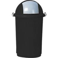 Afvalbak, kunststof, Ø 410 x H 760 mm, 50 liter, grijs