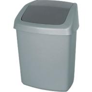 Afvalbak met swingdeksel, 10 liter, grote inwerpopening