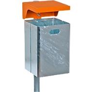 Afvalbak thermisch verzinkt, zonder asbak