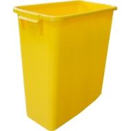Afvalbak zonder deksel, 60 liter, geel