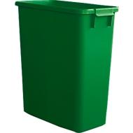 Afvalbak zonder deksel, 60 liter, groen