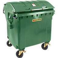 Afvalcontainer MGB 1100 RD, kunststof, rond deksel, 1100 l, groen