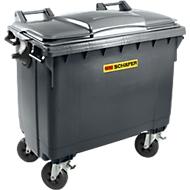 Afvalcontainer MGB 660 FD, kunststof, 660 l, antraciet