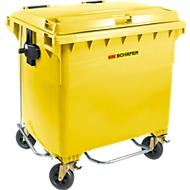 Afvalcontainer MGB 660 FDP, kunststof, 660 l, geel