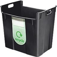 Afvalsorteerbak, 40 l, zwart