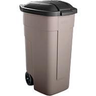 Afvalsorteersysteem, wielen, beige, deksel antraciet