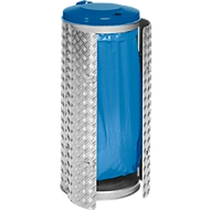 Afvalverzamelaar Compact,  rvs/aluminium-duet plaat, blauw