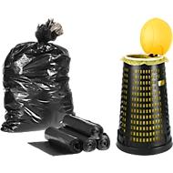Afvalverzamelaar met 50 afvalzakken