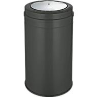 Afvalverzamelaar met swingdeksel, antraciet