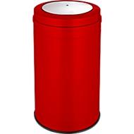 Afvalverzamelaar met swingdeksel, rood