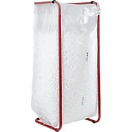 Afvalzakken Premium, materiaal LDPE, 60 mijn sterkte, 400 liter, 100 stuks, transparant, materiaal LDPE, 60 mijn sterkte, 400 liter, 100 stuks, transparant