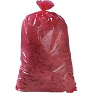 Afvalzakken Premium, materiaal LDPE, rood, 120 liter, 250 stuks