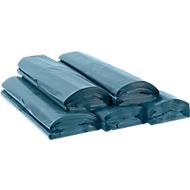 Afvalzakken Premium, voor 120 l, doorstoot- & scheurvast, recycling-LDPE, 100 stuks, blauw