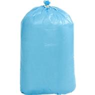 Afvalzakken van polyethen HDPE,  L1100 x B 700 mm, 120 liter, blauw, pak van 250 stuks