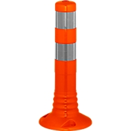 Afzetpaal flexipaal, zelfoprichtend, H 450 mm, oranje-zilver