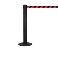 Afzetpaal met trekband GLA 85, trekband zwart/rood