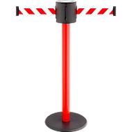 Afzetpaal met trekband RS-Guidesystems GLAD 28 rood, 2 kleuren trekband rood/wit