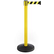 Afzetpaal met trekband, set van 2, geel, band zwart/geel
