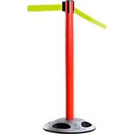 Afzetpaal RS-Guidesystems GLA 25, rood, trekband neongeel, 2 stuks