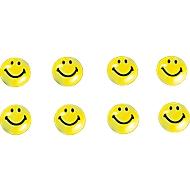 Aimants en forme de Smiley, 20 mm, paquet de 8 pièces