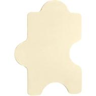 Akoestisch wandpaneel Puzzel, b 1000 x h 500 mm, polyestervlies in viltlook, ivoor RAL 1015
