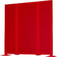Akoestische scheidingswand Akustika, B 400 x H 1500 mm, rood