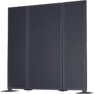 Akoestische scheidingswand Akustika, B 400 x H 1800 mm, grafiet