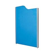 Akoestische scheidingswand systeem aluminium klittenband, gegolfd, 1600/1400 x 1250 mm, donkerblauw/lichtgrijs RAL 7035