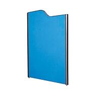 Akoestische scheidingswand systeem aluminium klittenband, gegolfd, 1800/1600 x 1250 mm, donkerblauw/antraciet RAL 7016