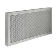 Akoestische tafelscheidingswanden, B 1600 x H 400 mm, aluminium zilver