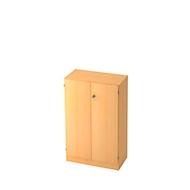 Aktenschrank, 3 OH, B 800 x T 420 x H 1270 mm, abschließbar, Buche-Dekor