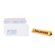 Aktion! Elco Premium Briefkuverts DIN lang, mit Fenster, hochweiß, 500 Stck. + Toblerone 200 g
