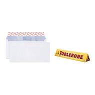 Aktion! Elco Premium Briefkuverts DIN lang, ohne Fenster, hochweiß, 500 Stck. + Toblerone 200 g