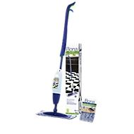 Aktion Wischmopp Spray Mop Bona®, für Böden aus Stein/Laminat/Fliesen/Vinyl/PVC/LVT, mit 850 ml Bodenreiniger in Kartusche + Mikrofaser-Pad & Staubpad