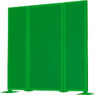 Akustik-Stellwand Akustika, B 400 x H 1500mm, grün