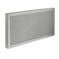 Akustika-Tischtrennwände, B 800 x H 400 mm, alusilber