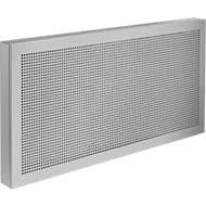 Akustika-Tischtrennwände, B 800 x H 400 mm, lichtgrau