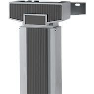 Akzentleisten PLANOVA ERGOSTYLE, für Schreibtisch 90° und 135°, zweistufige Verstellung, 9 Stück, graphit
