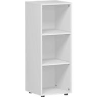 ALICANTE boekenkast, 3 OH, 2 legborden, spaanplaat, B 400 x D 400 x H 1104 mm, lichtgrijs