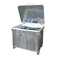 Altbatterie-Container BAUER SAP 601 K, Stahlblech, feuerverzinkt, abschließbar, stapelbar, B 1120 x T 960 x H 920 mm