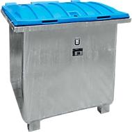Altöl-Sammelbehälter BAUER ASO-D 800, Stahlblech, Kunststoffdeckel, feuerverzinkt, B 1220 x T 1200 x H 1070 mm