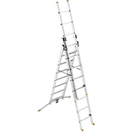 Alu-Kombileiter TRIO, 3teilig, 2 x 8 + 1 x 7 Sprossen