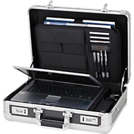 ALUMAXX aluminium laptopkoffer, met draaggreep, 1 vak, zilver/carbon