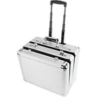 ALUMAXX Multifunktions-Koffer Challenger, mit Tragegriff und Rollen, 2 Fächer, silber