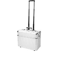 ALUMAXX Pilotenkoffer, mit Tragegriff und Rollen, mit Laptopfach, Aluminium, silber
