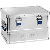 Aluminium doos Alutec Basic, materiaaldikte 0,8 mm, stapelbaar, met 1,5 mm deksel, 30 l inhoud