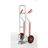 Aluminium steekwagen, lekvrije banden met PU-schuim, met veiligheidshandgrepen