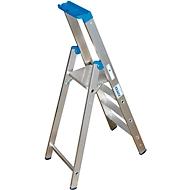 Aluminium trapladder, zonder wielen, 4 treden