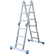 Aluminium universele ladder met scharnier Stabilo, 4 x 3 sporten